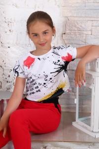 """Футболка детская """"15025"""" кулирка (цвет белый)"""