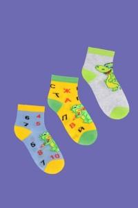 """Носки детские """"Алфавит"""" хлопок (цвет в ассортименте, 3 пары)"""