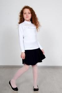 "Джемпер для девочки ""Mon amour"" кулирка (цвет белый)"