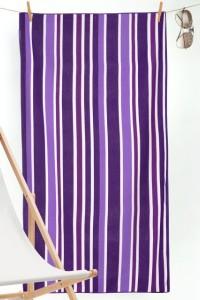 """Полотенце пляжное """"Полоса фиолетовая"""" махра (цвет фиолетовый)"""