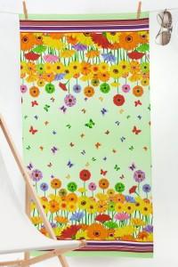 """Полотенце пляжное """"Нектар"""" вафельное полотно (цвет зеленый)"""