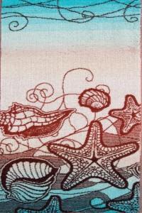 """Полотенце """"Морское вдохновениие"""" махра (принт, цвет бирюзовый)"""
